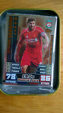 Matchattax Extra 14/15 Collector Tin 60 cards & Gerrard Bronze
