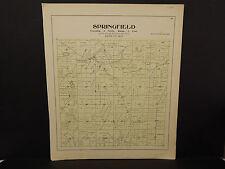 Wisconsin, Dane County Map, 1899 O2#27 Springfield Township