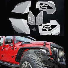 Ultimate Aluminum Front Inner Fenders w/ Logo For 07-17 Jeep Wrangler JK & JKU