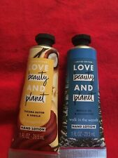 Love Beauty and Planet, Hand Lotion Lot of 2 Lotions-Walk in the Woods & Tucuma