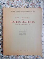Liste et description des fossiles classiques, Emile Ennouchi (avec envoi)