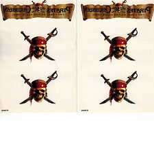 20Temporary Tattoo Pirates of the Caribbean  NEW Curse of the Black Pearl DISNEY