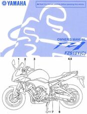 2009 YAMAHA FZ1 FAZER MOTORCYCLE OWNERS MANUAL -FZS 10 Y-FZS10Y-FZS10YC-FZS1000