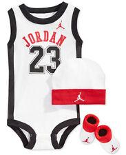 Nike Air Jordan Baby 3-tlg Geschenk Set Body Booties Mütze 0-6 Monate