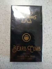 King of Shaves Beard Care Beard Comb - Anti-Static Moustache Comb Wood