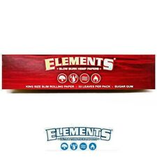 Elements Red King Size Slim Slow Burn Rolling Papers Buy4@ 1.96/Pk! USA Shipped