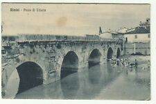 2744-RIMINI, PONTE DI TIBERIO, ED. B. MARCACCINI, PER FAENZA,  1927