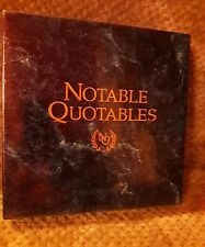 Notable Quotables Group Trivia Game by Game Makers - NEW In Box - Sealed