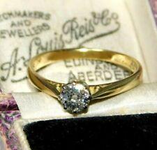 Fine, Vintage 18ct 750 Gold & 1/2 CARAT 0.50ct Diamond Solitaire Engagement Ring