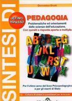 Sintesi di pedagogia - Domenico Bruni - Libro Nuovo in offerta!