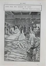 1902 Estampado Gran Mercado En Grimsby Pescado Para Temporada De Prestado