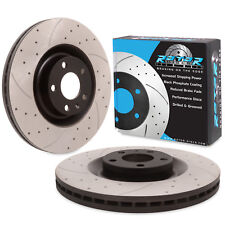 FRONT DRILLED GROOVED 345mm BRAKE DISCS FOR AUDI A4 S4 AVANT CABRIOLET QUATTRO