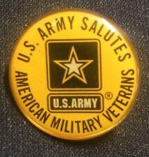 US Army Salutes American Military Veterans Lapel Hat Pin