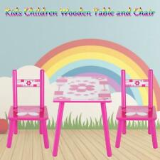 Kids Children Wooden Table and Chair Set Nursery Furniture Set Indoor/Outdoor