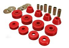 Energy Suspension Body Mount Bushings Set Chevy GMC C10 C15 Pickup RED 3.4108R