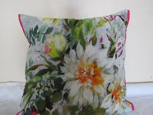 Designers Guild floral 100% Linen Fabric Aubriet Fuchsia Cushion Cover D1