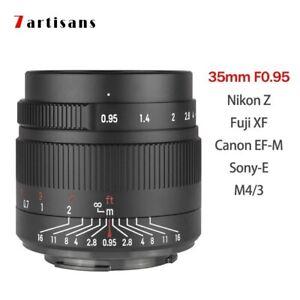 DHL Shipping 7artisans 35mm F0.95 APS-C MF Lens for Canon Nikon Sony Fuji M4/3