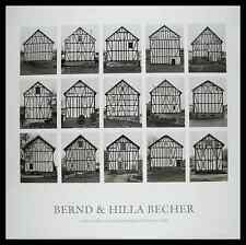 Bernd und Hilla Becher Fachwerkhäuser Poster Bild Kunstdruck & Alurahmen 70x70cm