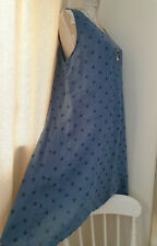 PURO LINO 100% Linen Midi Dress Summer Lagenlook Relaxed One Size 12 14 16 NWT