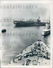 1948 French Warships at Portsmouth England Press Photo