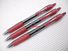 3 x Pilot G-2 0.7mm Fine point Retractable Rollerball Gel Ink Pen, Dark Red