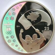 Canada 2007 Flag 25 Dollars 1oz Colour Silver Coin,Proof