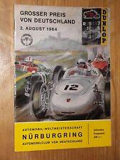 1964 Programme German Grand Prix F1 Nürburgring #Surtees Hill #Siffert Jim Clark