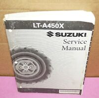 2007 Suzuki LT-A450X Motorcycle Factory Service Shop Manual 99500-44070-03E