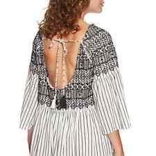 Free People Lola Embroidered Mini Dress, sz L