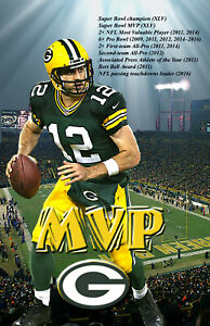 Green Bay Packers Lithograph print of Aaron Rodgers  MVP 11 x 17