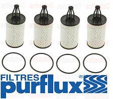 Set of 4 Purflux Oil Filter Mercedes C300 C350 GLK350 ML350 R350 2761800009