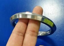 Stunning Stainless Steel CHUNKY Nine lines Sikh Singh Khalsa Kara Bracelet LA3