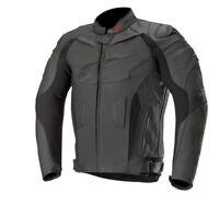 Alpinestars GP Plus R V2 Leather Motorcycle/Motorbike Jacket - Stealth Black