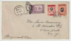 """D2865: 1935 Atlantis Cover; Franked with 2 """"Stamps"""""""