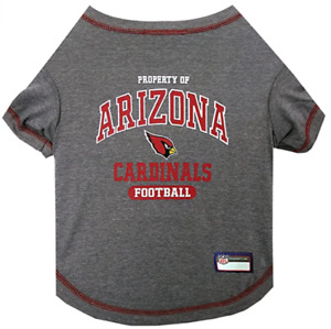 Arizona Cardinals Dog Shirt - SMALL - Property of - Official NFL - Gray - NWT