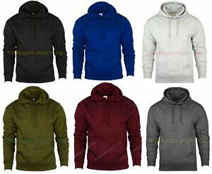 Plain Pullover Hooded Sweatshirt Mens Hoody Jumper Classic Work Wear Top S-5XL