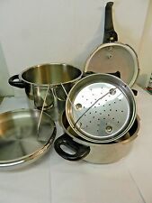 Magefesa 6 Qt & 3 Qt Stainless Steel 18/8 Pressure Cooker Set Spain with Basket