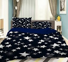 3D White Star 5 Bed Pillowcases Quilt Duvet Cover Set Single Queen King Au Carly