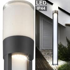 Design LED Außen Bereich Steh Stand Leuchte Grundstück Garten ALU Beleuchtung