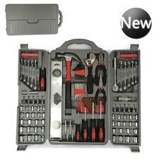 127 Pcs Essential Tool Kit Set-Socket Pliers Screwdriver Drill Bit Hex Allen Key