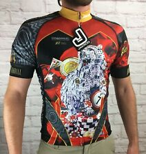 Jakroo Cycling Awesome Gambling Graphic Casino Jersey Mens Medium Nwt