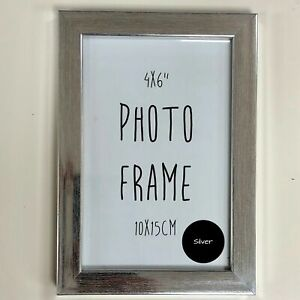 """1x Silver Small Classic Modern Photo Frame Picture Frames 4x6"""" inches 10x15cm"""