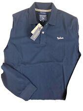 polo shirt Woolrich Uomo Manica Lunga Blu Tg S