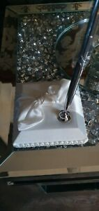 Wedding Pen Stand with Silver Pen