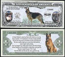 German Shepherd Dog Certificate Million Dollar Bill Funny Money Novelty Note