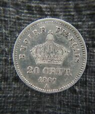 20 Centimes 1867 A - Napoléon III - Argent