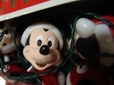 MICKEY MOUSE DISNEY SANTA CHRISTMAS LIGHTS SET W/ORIG BOX  FREE SHIPPING