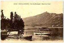 CPA 73 Savoie Aix-les-Bains Lac du Bourget Dent du Chat bateaux animé