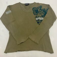 Mens BRAVE SOUL Beige Cotton Knit Top. Size Small