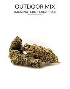1g Outdoor Buds, Weed, Gras